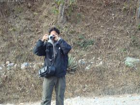 Concentrating to capture whole team..