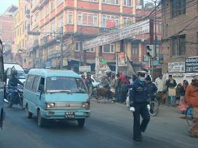 busy road at kalimati