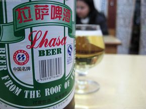 Cool and refreshing beer of Lhasa