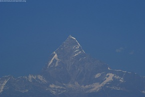 Not much snow in Machhapuchhre
