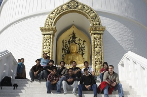 Team at Peace Pagoda