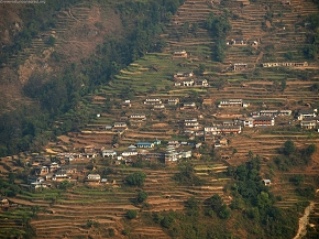 Gurung village - Landruk(on the opposite side)