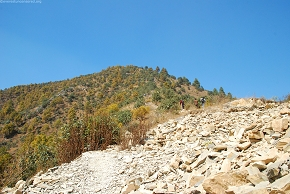It`s a steep rocky trail upwards