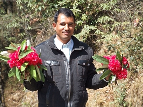 Happiness is to hold flowers in both hands