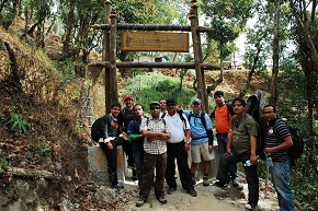 Before entering Nagarjun National Park