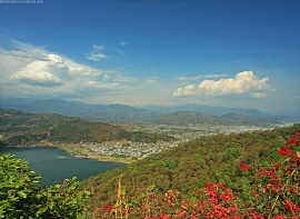 Pokhara from the World Peace Stupa