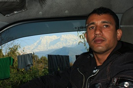 Ram has seen much of Nepal like the Himalayas in the background