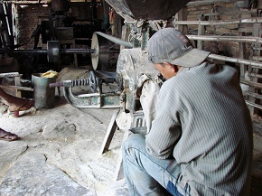 flour production in progess