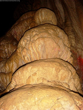 sculpture inside the CAVE