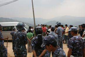 Lava busy handling the Protestors of NSF nebisangh congress irate students who called nuwakot bandh on the fateful day and police was on their side too