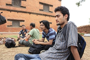 Different people Different Thought Anuj, Amit, Shangharsha and Bhanu enjoying the shdaes of historical nuwakot palace