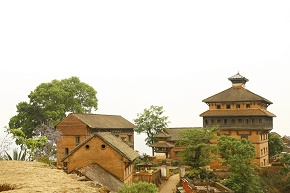 The Durbar nuwakot palace as seen from Taleju that was built in malla period Save me protect me it is crying but nobody to listen