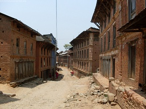 Lonlely streets of Dapcha Village
