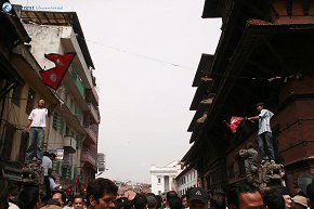Waving the Nepal Flags