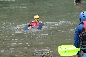 Sanjeet doesn't need a raft...