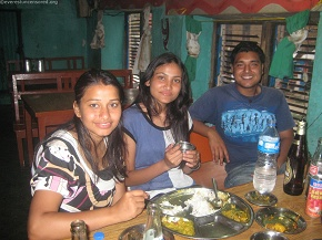 Deepak with the beautiful ladies...