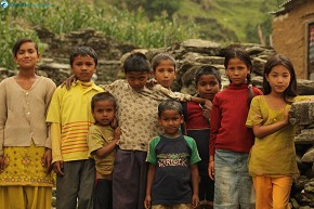 kids from Sirubari