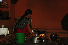 Didi preparing Food for us