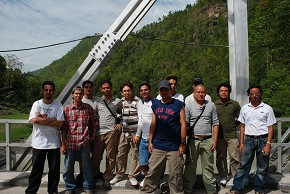 On the Tamakoshi Bridge