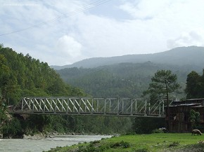 Tamakoshi Bridge  Links Charikot to Jiri