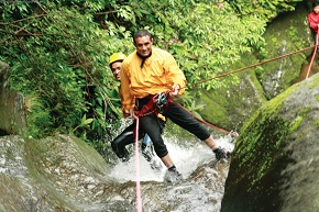 Manoj with Kishor Shahi - the canyoning expert