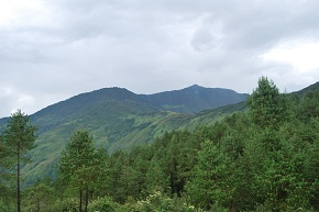 Tall hill on the left is Kamikharka