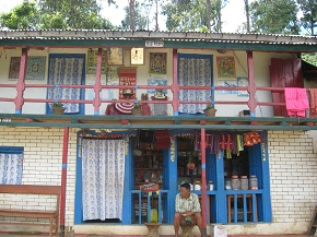 Colorful house of the Syaule