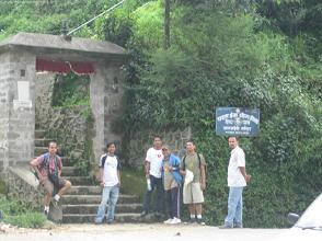 This is Telkot.  We would shortly walk up the stairs to Jalpadevi.