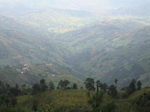 Looking below on way to Nagarkot tower. Below is Rohini village and we could see Melamchi riverbed from here.