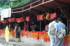 Garlands for the Goddess - On the way to Dakshin Kali Temple
