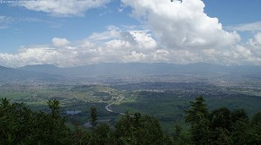 Kathmandu Valley seen from Hattiban