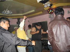 After dinner, it was disco time.  Rudra dai remembers the 80s