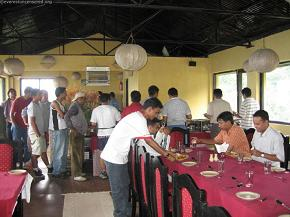 Lunch time.  Traditional Nepali cuisine was on the buffet.