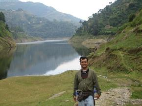 After walking for 3 hours, we reached the beginning of the Kulekhani dam