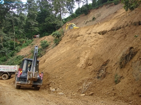 land slide on the way