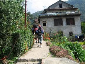 Ascending towards the Sundarijal hill