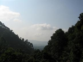 Looking through the hills toward Thali
