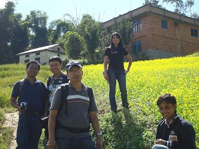 Hikers in Duku Chap village