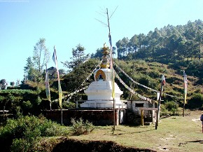 A Stupa on the way