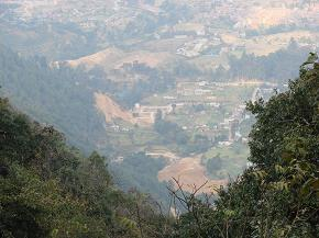 Looking down to Thankot from Chitlang Bhanjyang