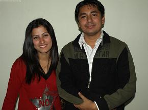 Looking good together!! Rachit with his wife