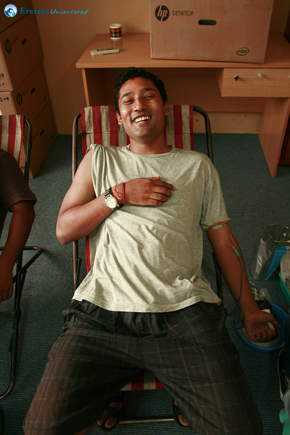 A happy donor - Abhishek