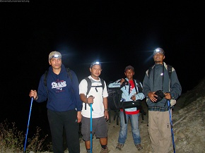 day1and2  Trek at night