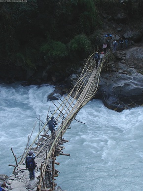 day1and2  Temporary Bamboo bridge