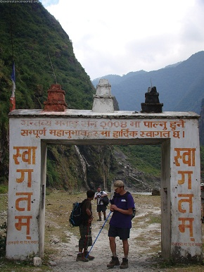 day1and2  day-1and2 Entering Manang