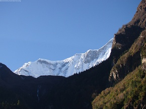 day3 Mount Annapurna from Bhurtang