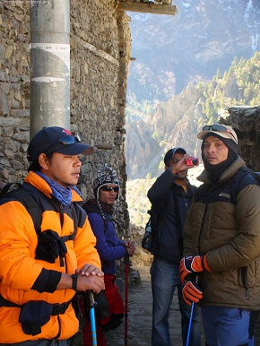 day6  stopping by at upper manang