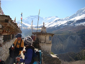 day6  Prayer wheels at upper manang