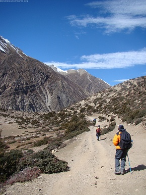 day6  thorang pass is still a couple of days walk away