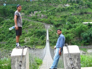 37. Great photography pose and beautiful suspension bridge